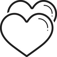 Line icon for heart vector