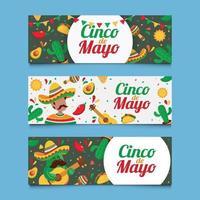 Cinco De Mayo Greeting Banner Collection