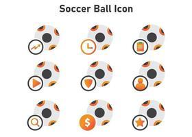 icono de balón de fútbol. Ilustración de balón de fútbol. icono de vector plano. puede utilizar para, elemento de diseño de icono, interfaz de usuario, web, aplicación móvil.