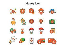 Ilustración de dinero. ilustración vectorial plana. puede utilizar para, elemento de diseño de icono, interfaz de usuario, web, aplicación móvil. vector