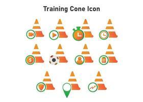 icono de cono de entrenamiento. Ilustración de cono de entrenamiento. icono de vector plano. puede utilizar para, elemento de diseño de icono, interfaz de usuario, web, aplicación móvil.