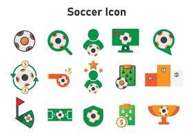 icono de fútbol. Ilustración de fútbol. icono de vector plano. puede utilizar para, elemento de diseño de icono, interfaz de usuario, web, aplicación móvil.