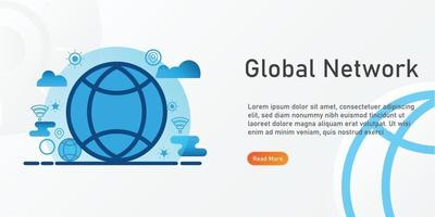 global network Landing page template. creative website template designs. editable Vector illustration.