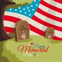 Happy Memorial Day Celebration vector