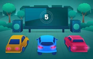 Drive in Movie New Normal Concept vector