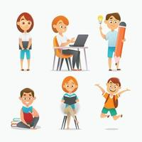 Set of Boy And Girl Character vector