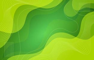 fondo verde fluido vector