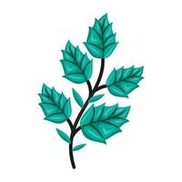 Tree branches Color leaves Vector Illustration