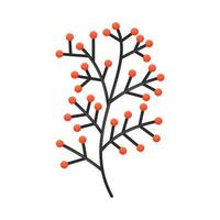 Hand drawn tree branches leaves Vector Color