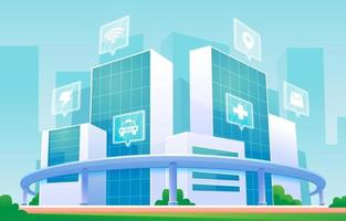 Smart Modern City Design vector