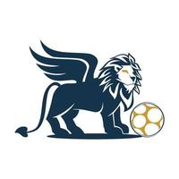 Lion Wing Football Design Symbol Illustration Isolated vector