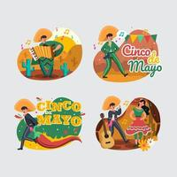 Fun Cinco De Mayo People Icon Set vector