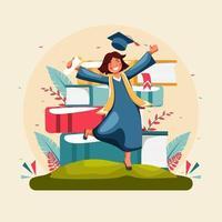 concepto de celebración de graduación feliz vector
