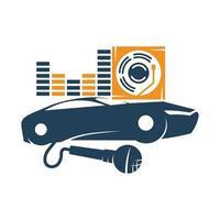 Audio Car Template set Icon Symbol Vector