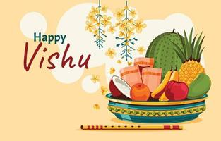 Vishu Festival Concept Background vector