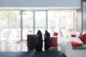 Salón del vestíbulo del hotel borroso abstracto