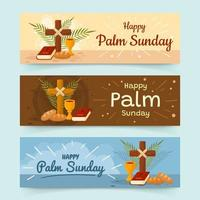 Banners of Palm Sunday vector