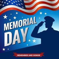 America Memorial Day Concept vector