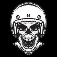 Skull with Helmet vector illustration