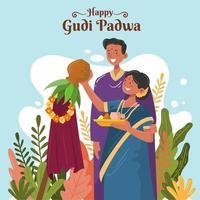 Happy Gudi Padwa Concept vector