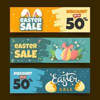 Cute Banner of Easter Sale vector