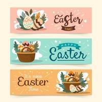 Easter Festivity Banners vector