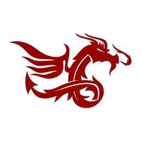 Dragon Wing Design Mascot Template Vector Isolated