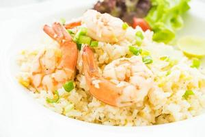 Fried rice with shrimp photo