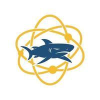 Shark Technology design vector isolated illustration