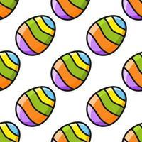 patrón transparente de color. estilo de dibujos animados. dibujado a mano. ilustración vectorial aislado sobre fondo blanco. para papel tapiz, póster, pancarta. vector