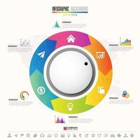 plantilla de diseño de infografías de línea de tiempo vector