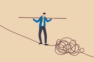 gestión de riesgos y crisis vector