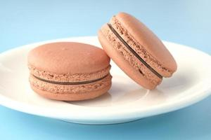 Close up of macaroons in a bowl photo