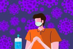 lavarse las manos para evitar el covid-19 vector