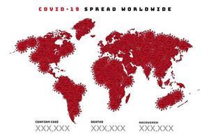 COVID-19 coronavirus disease around the world vector