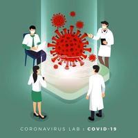 Scientists studying COVID-19 coronavirus disease vector