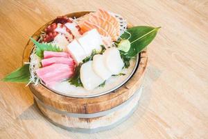 Raw fresh sashimi photo