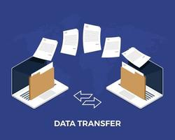 Data transfer with internet cloud technology vector