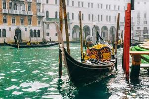 Venice, Italy 2017- Gondola on the Grand canal of Venice photo