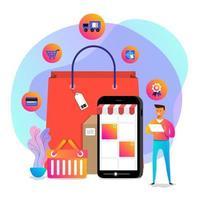 vector de compras online