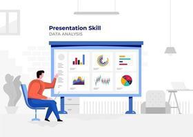 Chart presentation vector