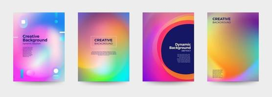 Colorful abstract cover templates vector