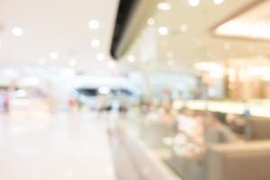 Abstract defocused shopping mall interior for background photo