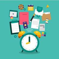 gestión del tiempo en vector de negocios