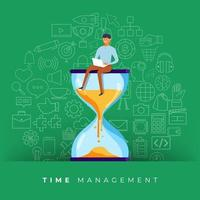 Time management in business vector