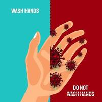 Wash hands to avoid COVID-19 coronavirus