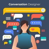Designing conversation for chatbot technology