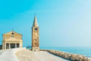 Church of Our Lady of the Angel on the beach of Caorle Italy