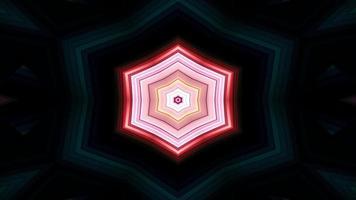 Caleidoscópio decorativo decorativo abstrato colorido hipnótico padrão simétrico