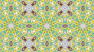 abstrato étnico autêntico padrão simétrico decorativo caleidoscópio decorativo